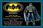 Batman 11 personalised invitations