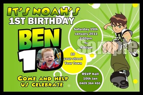 Ben 10 1 – Ben Ten Birthday Cards