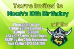 Canberra Raiders 2 NRL personalised invitation