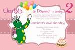 Dorothy the dinosaur birthday invitation