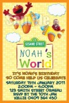 Elmo's world personalised photo birthday party invitations