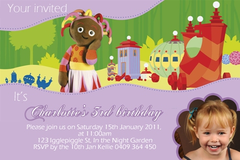 In the night garden 7 – In the Night Garden Birthday Invitations