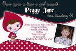 Little red riding hood personalised photo birthday party invitation