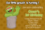 Oscar the grouch invitation