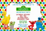 Sesame Street personalised invitation