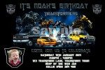 Transformers personalised photo birthday party invitations