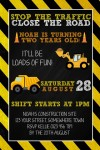 Boys construction birthday party invite
