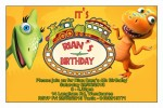 dinosaur train birthday party invitations