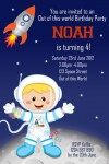 Personalised space and astronaut birthday party invitations
