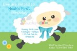 Personalised birthday party cute sheep invitations