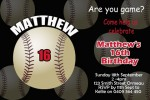 sports baseball birthday party invitation