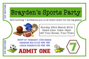 Sports party 1