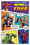 Superhero marvel comic invitation invite