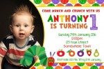 The very hungry caterpillar personalised invitations