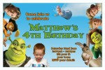personalised Shrek invitations