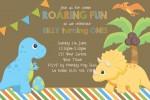 Dinosaur personalised invitation