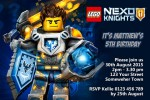 Lego Nexo Knights personalised invitations