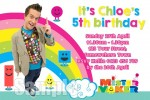 Mister Maker personalised invitations