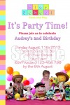 play school birthday party invitation
