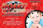 Roary the racing car invitations