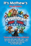 Skylander trap team invitation
