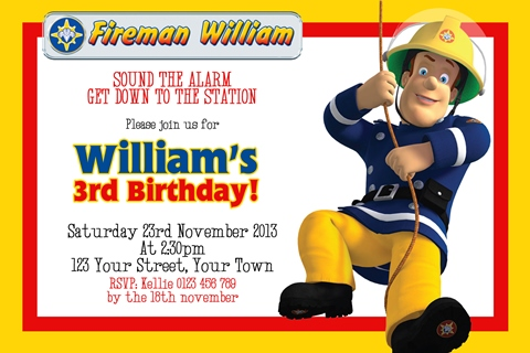 Fireman Sam 1 – Fireman Sam Birthday Cards