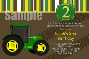 John Deere tractor invitation 1 no photo