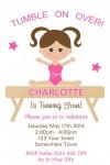 Gymnastics invitations