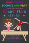 girls and boys gymnastics birthday party invitation