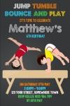 boys gymnastics birthday party invitation