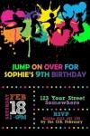 Jump trampoline invites