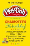Play doh invite