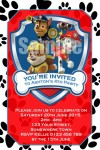 Paw Patrol invitation