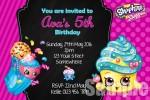 Shopkins birthday party Invite