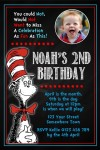 Dr Seuss Cat in the hat invitation 3 with photo