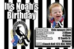 Collingwood AFL personalised invitation