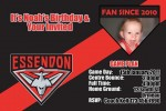 Essendon AFL personalised invitation