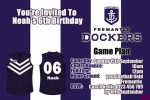 Fremantle Dockers AFL personalised invitations