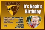Hawks AFL personalised invitation