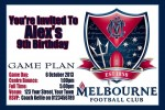 Melbourne AFL personalised invitation