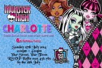 Monster High personalised invitations
