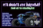 Monster Jam personalised invitation