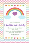 Rainbow personalised invitations