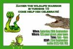Reptile personalised invitations