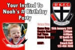 St Kilda AFL personalised invitation