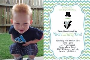 Little Man Invitation 2