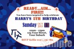 personalised nerf birthday party invitation