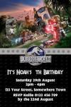 Jurassic world lego invite invitation