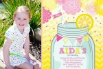 pink lemonade girls lemon birthday party invitation invite