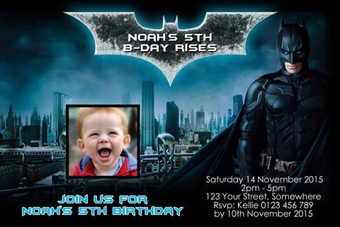 Batman 10 personalised invitations